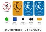 ski lift  elevator manuals ... | Shutterstock .eps vector #754670350