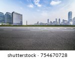 panoramic skyline and buildings ... | Shutterstock . vector #754670728