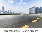 panoramic skyline and buildings ...   Shutterstock . vector #754670749