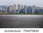 panoramic skyline and buildings ... | Shutterstock . vector #754670830