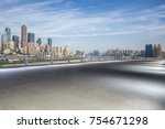 panoramic skyline and buildings ... | Shutterstock . vector #754671298