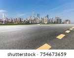 panoramic skyline and buildings ... | Shutterstock . vector #754673659