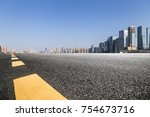 panoramic skyline and buildings ... | Shutterstock . vector #754673716
