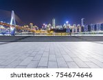 panoramic skyline and buildings ... | Shutterstock . vector #754674646