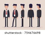 businessman or manager from... | Shutterstock . vector #754676698