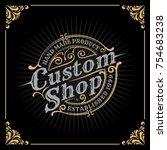 vintage luxury banner template... | Shutterstock .eps vector #754683238