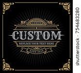 vintage luxury banner template... | Shutterstock .eps vector #754683280