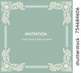 invitation card  background and ... | Shutterstock .eps vector #754684606