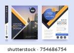 poster flyer pamphlet brochure... | Shutterstock .eps vector #754686754