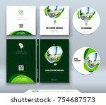cd envelope  dvd case design.... | Shutterstock .eps vector #754687573