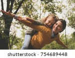 mom and daughter have fun... | Shutterstock . vector #754689448