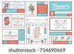colored vector sea badges vol....   Shutterstock .eps vector #754690669