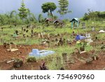 traditional cemetery indonesia | Shutterstock . vector #754690960