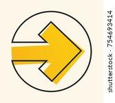 illustrated vector arrow. arrow ... | Shutterstock .eps vector #754693414