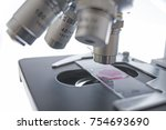 microscope close up in the... | Shutterstock . vector #754693690