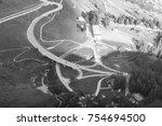 intersection in switzerland... | Shutterstock . vector #754694500