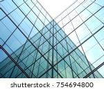 modern office glass building... | Shutterstock . vector #754694800