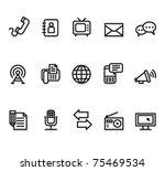 communication black and white... | Shutterstock .eps vector #75469534