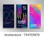 minimal design poster or cover... | Shutterstock .eps vector #754705870