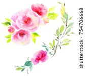 wildflower eustoma flower in a... | Shutterstock . vector #754706668