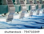 industrial embroidery machine | Shutterstock . vector #754710349