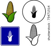 corn illustration  sign and... | Shutterstock .eps vector #75471514