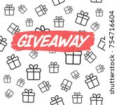 giveaway card template for... | Shutterstock .eps vector #754716604