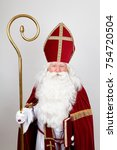 Saint Nicholas In His Red...