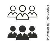 people vector icons set. black... | Shutterstock .eps vector #754720576