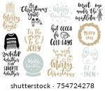 christmas lettering... | Shutterstock .eps vector #754724278