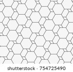 vector seamless pattern. modern ... | Shutterstock .eps vector #754725490