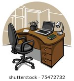 office work place | Shutterstock .eps vector #75472732