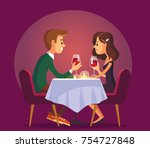 illustration with romantic... | Shutterstock .eps vector #754727848
