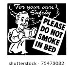 Do Not Smoke In Bed   Retro Ad...