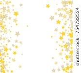 golden scattered chaotically...   Shutterstock .eps vector #754733524