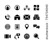 business and management icon set | Shutterstock .eps vector #754734040