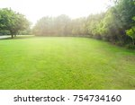 the lawn in park | Shutterstock . vector #754734160