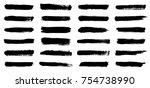 big isolated vector set of... | Shutterstock .eps vector #754738990
