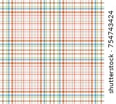 tartan traditional checkered... | Shutterstock .eps vector #754743424
