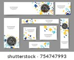 set of abstract web banner... | Shutterstock .eps vector #754747993