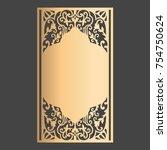 laser cut panel design. wedding ...   Shutterstock .eps vector #754750624