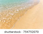 sand sea tropical beach with... | Shutterstock . vector #754752070