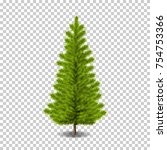 vector realistic christmas tree ... | Shutterstock .eps vector #754753366