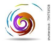 modern spiral vector. abstract... | Shutterstock .eps vector #754753528