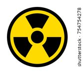 radioactive contamination... | Shutterstock .eps vector #754754278
