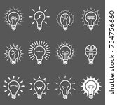 light bulbs and lamps icons  ... | Shutterstock .eps vector #754756660