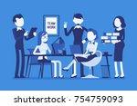 team work in office. combined... | Shutterstock .eps vector #754759093