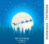 vector christmas background... | Shutterstock .eps vector #754760266