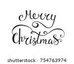 merry christmas vector text... | Shutterstock .eps vector #754763974