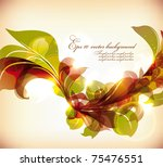 abstract colorful flovers... | Shutterstock .eps vector #75476551